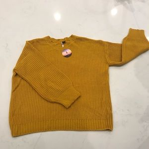 Chunky Cable Knit Sweater beautiful yellow/gold